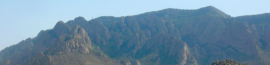 The Sandia Mountains from Albuquerque